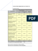 Informe Semestral - Cuadro Avance Financiero Julio Diciembre
