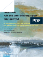 Abraham P. Bos, Rein Ferwerda-Aristotle, On the Life-bearing Spirit (de Spiritu) _ a Discussion With Plato and His Predecessors on Pneuma as the Instrumental Body of the Soul. Introduction, Translatio (1)