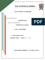 ejemplo de un calculo de tranciones,hidraulica