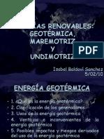 E. Geotermica y Maremotriz
