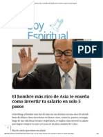 El Hombre Más Rico de Asia Te Enseña Como Invertir Tu Salario en Solo 5 Pasos