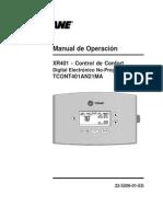Termostato en Español ES XR 401