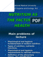 Nutrition as the Factor of Health
