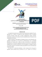 Documento Final Criterios Generales de Proyecto Comunicación Soc ial UBV