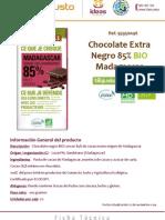 95950046 Chocolate Negro 85% BIO Madagascar