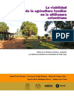 La Viabilidad de La Agricultura Familiar en La Altillanura