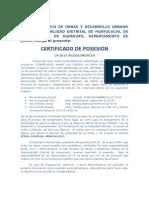 Certificado de Posesion-2015 Docx