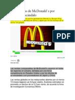2014 NOV Caen Ventas de McDonalds Por Rivales y Escandalo