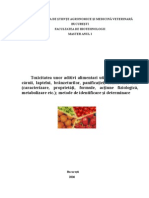Toxicitatea Unor Aditivi Alimentari Utilizati in Industria Carnii, Laptelui, Branzeturilor, Panificatiei, Conservelor