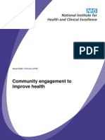 Community Engagement to Improve Health - NICE UK - 2008