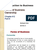 Chapter 2 - Forms of Business Ownership Part-II(2)