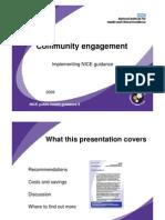 Community Engagement to Improve Health Presentation - NICE UK - 2008