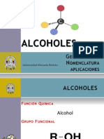 alcoholes generalidades