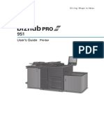 Bizhub Pro 951 Printer User Guide