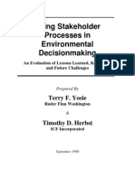 Using Stakeholder Processes in Environmental Decision Making - AIHC API ACA USA - 1998