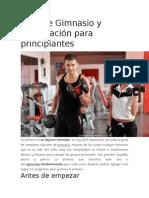 Guía de Gimnasio y Musculación Para Principiantes