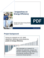 Perspectives on Energy Efficiency - McKinsey - Clean Energy Speakers Series