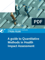 Guide to Quantitative Methods in HIA - SNIPH Sweden - 2008