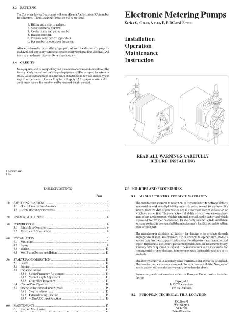 Pulsatron Generic Manual Pump Relay European Wiring Diagram Symbols