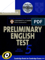 Preliminary English Test 5 With Answers