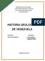 Historia Geologica de Venezuela Yonaski