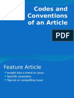 codes and conventions article