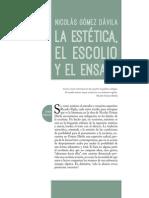 NGD. La Estética, El Escolio, El Ensayo