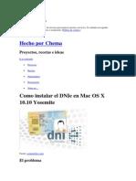 Como Instalar El DNIe en Mac OS X 10.10 Yosemite