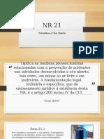 Apresentação NR 21