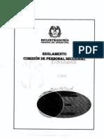 Reglamento Comision Personal Seccional