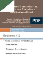 Relaciones Comunitarias Conflictos Sociales e Institucionalidad
