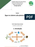 [AULA] Fluxo de Água no Sistema Solo-Planta-Atmosfera - Por Natalia Teixeira Schwab