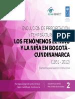 Evolucion Presipitacion y Temperatura Bogota