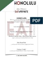 Eatnprivate E-Rotary Hawaii Luncheon menu