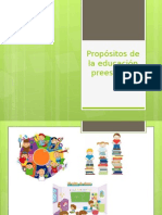 Propósitos de La Educación Preescolar