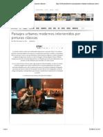 Paisajes Urbanos Modernos Intervenidos Por Pinturas Clásicas - Cultura Colectiva