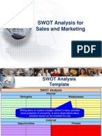 SWOT Analysis for Sales and Marketing