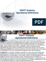 SWOT Analysis Operational Definitions