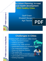 Health Urban Planning Inroad to Local Health Development - WHO - 2008