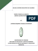 Estructura Del Sistema Educativo en Colombia