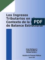 Ingresos tributarios en el contexto de la política de balance estructural