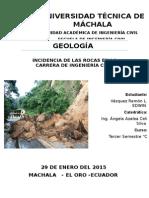 GEOLOGÍA Incidencia de Las  Rocas