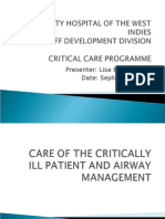 Care of the Critically Ill and Airway Management