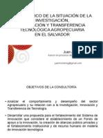 Diagnostico Sistema Nacional de Innovación Agrícola de El Salvador