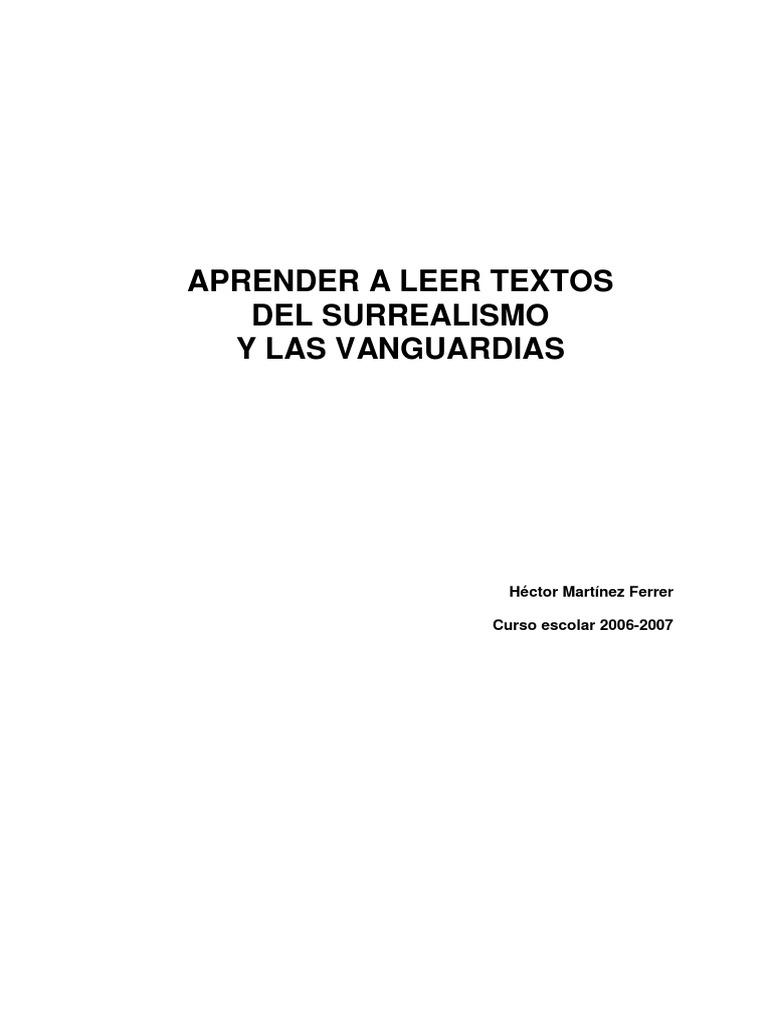 Aprender a Leer Las Vanguardias