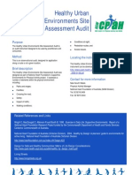 Healthy Urban Environments Site Assessment Audit Factsheet - NSWCPAH Australia - 2007