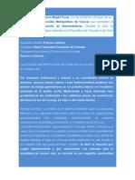 Palabras de la Profesora Magali Pocay, en representación del grupo de ex.-trabajadores de la Alcaldía Metropolitana de Caracas