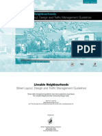 Liveable Neighbour Hoods Street Layout Design Traffic Mx Guidelines - GWA Australia - 2000