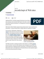 FBI Wants Records Kept of Web Sites