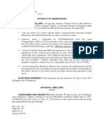 Undertaking-motor Vehicle Diff. Signatures-Abellera